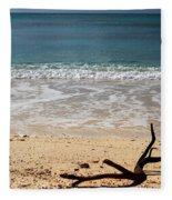 Beach At Grand Turk Fleece Blanket