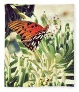 Beach Butterfly Fleece Blanket