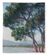 Beach Of Juan Les Pins Fleece Blanket