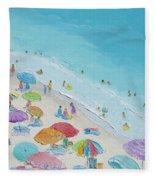 Beach Painting - Summer Love Fleece Blanket