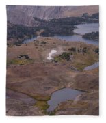 Beartooth Highway Cirques Fleece Blanket