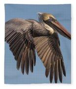 Beautiful Brown Pelican Fleece Blanket