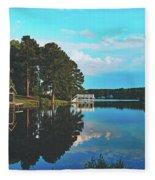 Beautiful Bunn Lake - Zebulon, North Carolina Fleece Blanket
