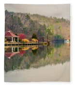 Beautiful Landscape Near Lake Lure North Carolina Fleece Blanket