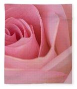 Beautiful Pink Rose Closeup Fleece Blanket