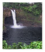 Beautiful Rainbow Falls 2 Fleece Blanket