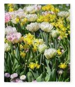Beautiful Spring Flowers Fleece Blanket