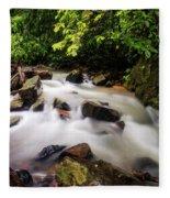 Beautiful Stream In Western Ghats Fleece Blanket