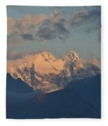 Beautiful View Of The Dolomites Mountains In Italy  Fleece Blanket