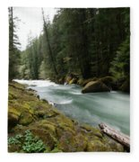 Beautiful White Water Fleece Blanket