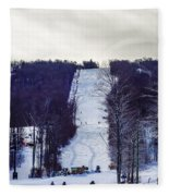 Beautiful Winter Landscape At Timberline West Virginia Fleece Blanket