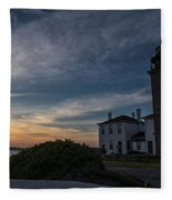 Beavertail Lighthouse Fleece Blanket