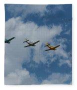 Beechcraft T-34 Mentor Airplane Trio 3 Fleece Blanket