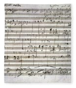 Beethoven Manuscript Fleece Blanket