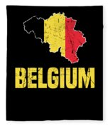 Belgium Flag Apparel Fleece Blanket