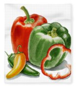 Bell Peppers Jalapeno Fleece Blanket