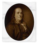 Benjamin Franklin Fleece Blanket