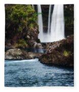 Big Island Waterfall Fleece Blanket