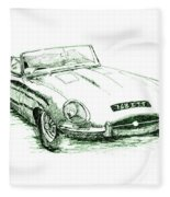 E Type Fleece Blanket