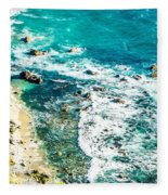 Big Sur California Coastline On Pacific Ocean Fleece Blanket