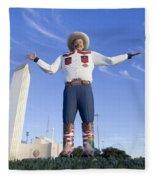 Big Tex In Dallas Texas Fleece Blanket