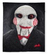 Billy The Puppet Fleece Blanket