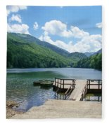 Biogradska Gora Forest  Fleece Blanket