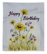 Birthday Card Fleece Blanket