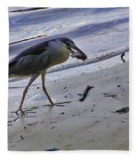 Black Crowned Night Heron Fleece Blanket