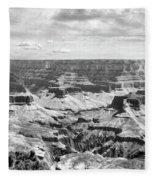 Black Grand Canyon  Fleece Blanket