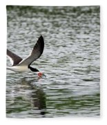 Black Skimmer Fishing Fleece Blanket