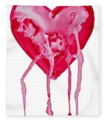 Bleeding Heart Fleece Blanket