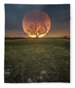 Blood Moon  Fleece Blanket