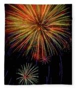 Blooming Fireworks Fleece Blanket
