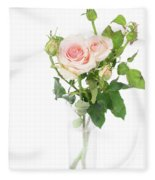 Rose Twigs Fleece Blanket