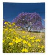 Blossoming Jacaranda Fleece Blanket