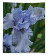 Blue Iris 2 Fleece Blanket