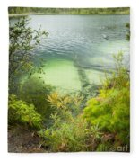 Blue Lake Stradbroke Island Fleece Blanket
