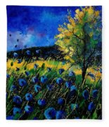 Blue Poppies  Fleece Blanket