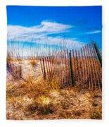 Blue Sky Over The Dunes Fleece Blanket