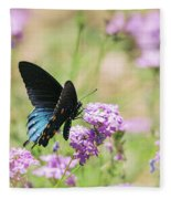Blue Swallowtail Butterfly  Fleece Blanket