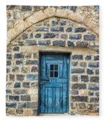 Blue Traditional Door Fleece Blanket