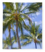 Blurry Palms Fleece Blanket