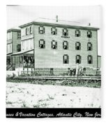 Boardinghouses And Cottages Atlantic City New Jersey C 1900 Fleece Blanket