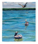 Boating In Fort Myers Fleece Blanket