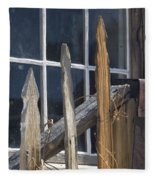 Bodie Picket Fence And Window Fleece Blanket
