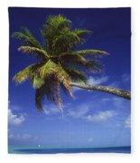 Bora Bora, Palm Tree Fleece Blanket