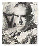 Boris Karloff, Vintage Actor Fleece Blanket