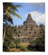 Borobudor Temple Fleece Blanket