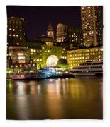 Boston Massachusetts Fleece Blanket